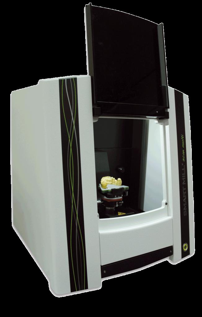 CAD-Gerät für digitalen Zahnersatz mit einem Gebiss